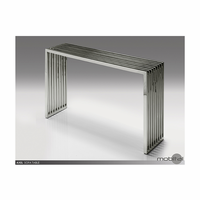 Axel Console Table Polished Stainless Steel