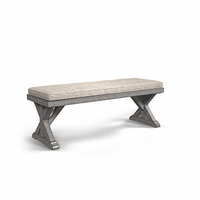 Ashley Furniture Bench with Cushion, Beige