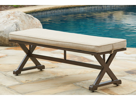 Ashley Furniture Bench with Cushion, Brown