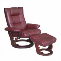 Benchmaster Monterey Leather Swivel Recliner
