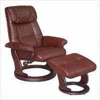 Benchmaster Ventura Leather Swivel Recliner
