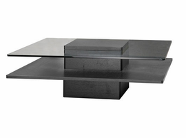 Beverly Hills Revere Square Walnut Coffee Table