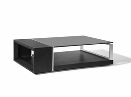 Beverly Hills Treble Espresso Coffee Table