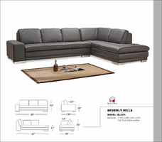 Block Full leather Sectional Sofa