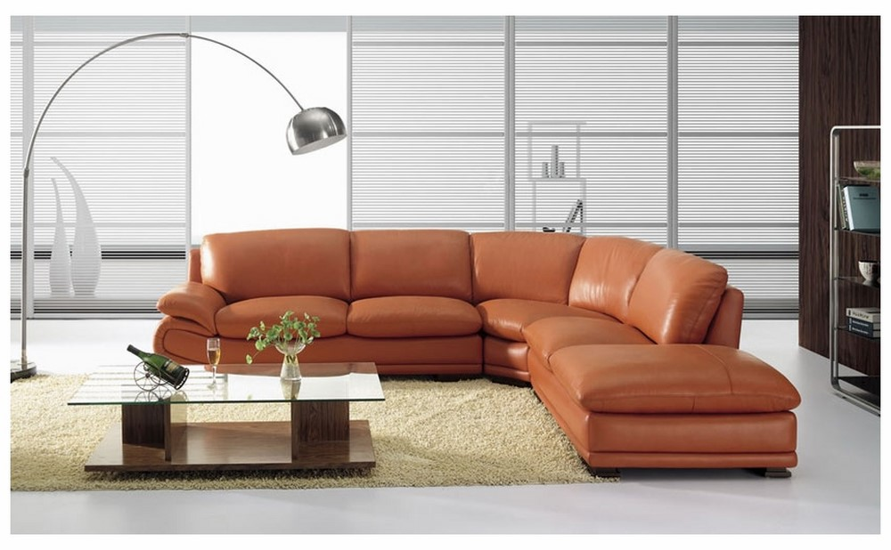 Well-known BO 3920 Modern Camel Leather Sectional Sofa JA38