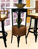 "Boca Rattan Biscayne Bistro Table with 36"" Dia Bev Glass"