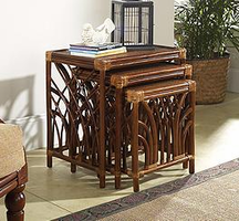 Boca Rattan Delta Nesting Tables in Royal Oak (3-Pieces)
