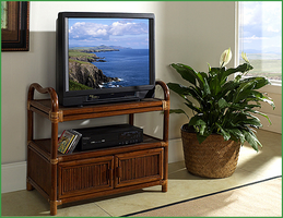 Boca Rattan Delta TV Cart with Cabinet