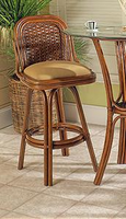 Boca Rattan Moroccan Barstool without Arms and Cushion