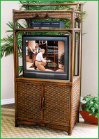 Boca Rattan Moroccan Rattan Entertainment Center