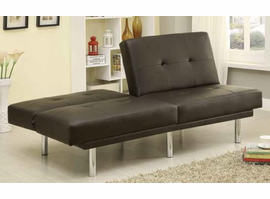 brown leatherette sofa bed 300208