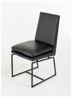 Cadre - Modern Black Leatherette Dining Chair (Set of 2)