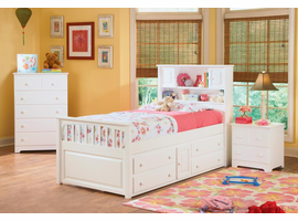 Captain's Bookcase  Bed Twin  with 4 Drawer Under Bed Chest
