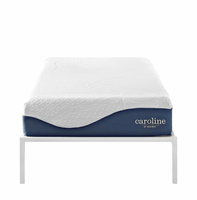 "Caroline 10"" Twin Memory Foam Mattress, White [FREE SHIPPING]"