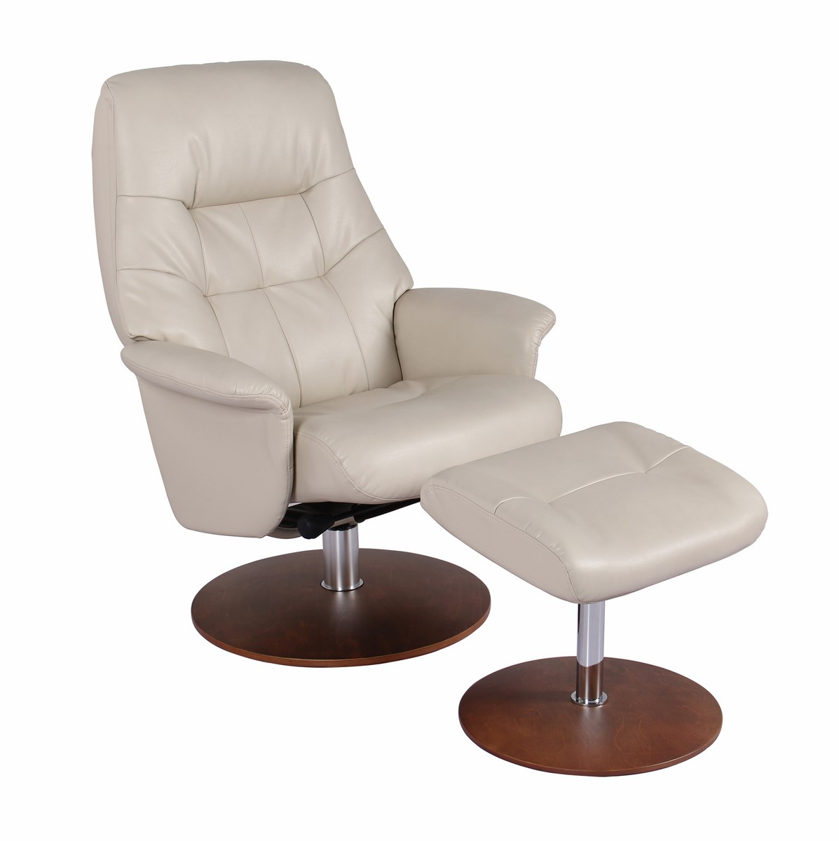 Sensational Carter Ultra Synthetic Color Taupe Swivel Recliner Chair Ncnpc Chair Design For Home Ncnpcorg