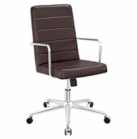 Cavalier Highback Office Chair, Brown [FREE SHIPPING]