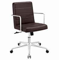 Cavalier Mid Back Office Chair, Brown [FREE SHIPPING]