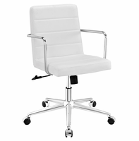 Cavalier Mid Back Office Chair, White [FREE SHIPPING]