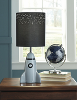 Ashley Express Furniture - Cale - L857674 - Ceramic Table Lamp (1/CN), Gray/Black
