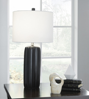 Ashley Express Furniture - Adorlee - L177934 - Ceramic Table Lamp (2/CN), Black