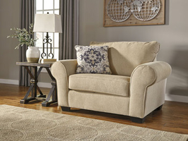 Ashley Furniture Chair and a Half, Parchment