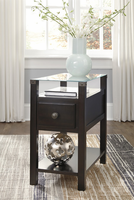 Ashley Express Furniture Chair Side End Table, Almost Black