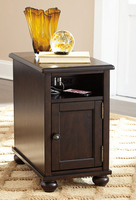 Ashley Express Furniture Chair Side End Table, Dark Brown