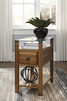 Ashley Express Furniture Chair Side End Table, Medium Brown