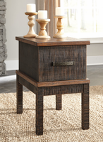 Ashley Express Furniture Chair Side End Table, Two-tone