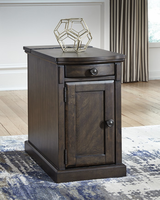 Ashley Express Furniture Chair Side End Table, Warm Brown