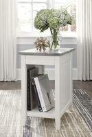 Ashley Express Furniture Chair Side End Table, White