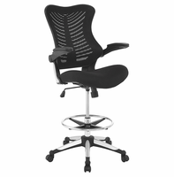 Charge Drafting Chair, Black [FREE SHIPPING]