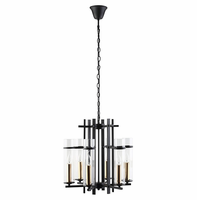 Chime Metal Chandelier, Black [FREE SHIPPING]