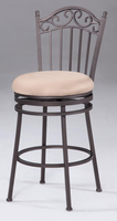 "Chintaly 26"" Memory Return Swivel Counter Stool - Antique Taupe - 0710-CS"