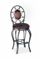 "Chintaly 26"" Memory Return Swivel Counter Stool - Autumn Rust Finish(AUT)(0727) - 0727-CS-AUT"