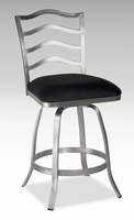 "Chintaly 26"" Memory Return Swivel Counter Stool - Nickel Plated - 0734-CS"