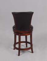 "Chintaly 26"" Swivel Solid Birch Counter Stool - Wenge Finish(0239) - 0239-CS"