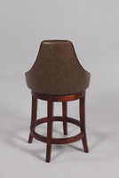 "Chintaly 26"" Swivel Solid Birch Counter Stool - Wenge Finish(0290) - 0290-CS"
