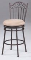 "Chintaly 30"" Memory Return Swivel Bar Stool - Antique Taupe - 0710-BS"