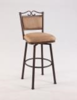 "Chintaly 30"" Memory Return Swivel Bar Stool - Autumn Rust Finish - 0707-BS"