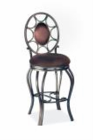 "Chintaly 30"" Memory Return Swivel Bar Stool - Autumn Rust Finish(AUT)(0727) - 0727-BS-AUT"