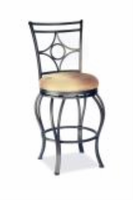 "Chintaly 30"" Memory Return Swivel Bar Stool - Glitter Brown - 0706-BS"