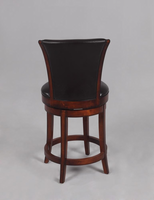 "Chintaly 30"" Swivel Solid Birch Bar Stool - Wenge Finish(0239) - 0239-BS"