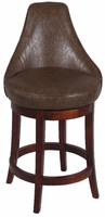 "Chintaly 30"" Swivel Solid Birch Bar Stool - Wenge Finish(0290) - 0290-BS"