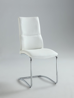 Chintaly Cantilever Curved Back Side Chair - Chrome - PIPER-SC-WHT