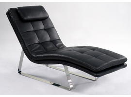 Chintaly CHAISE LOUNGE - BLK - CORVETTE-LNG-BLK