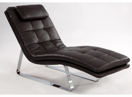 Chintaly CHAISE LOUNGE - BROWN - CORVETTE-LNG-BRW
