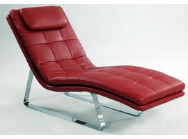 Chintaly CHAISE LOUNGE - RED - CORVETTE-LNG-RED