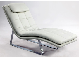 Chintaly CHAISE LOUNGE - WHITE - CORVETTE-LNG-WHT