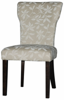 Chintaly Curved Back Parson Side Chair - Satin Espresso - MELANIE-PRS-SC